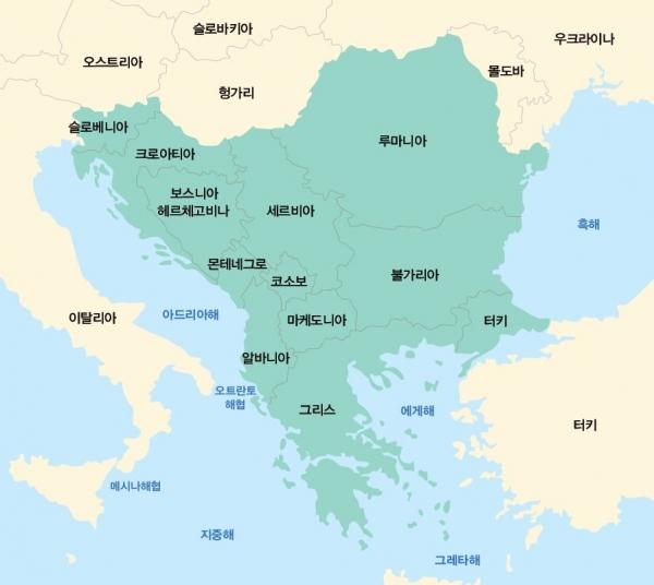 발칸반도 지도.지평인문사회연구소